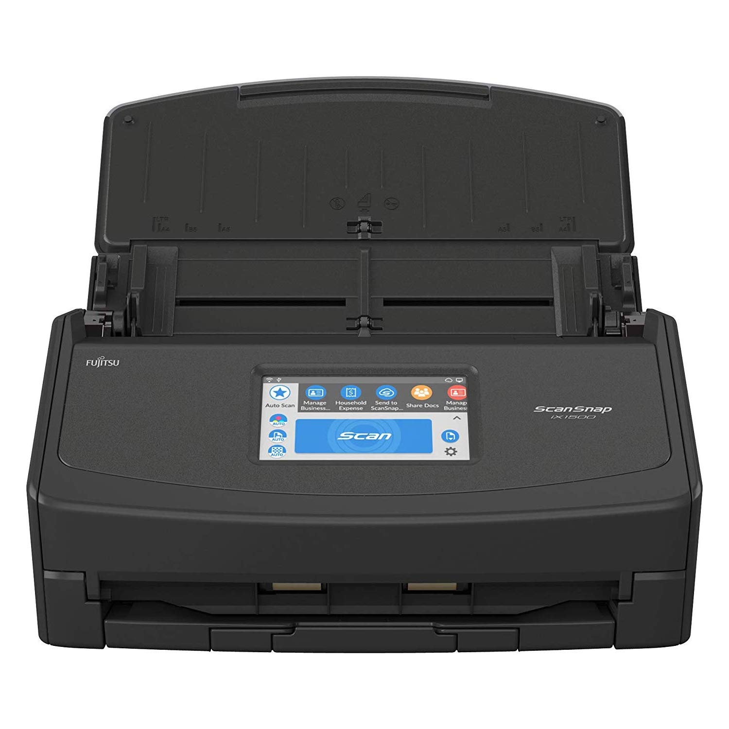 Fujitsu ScanSnap iX1500 Color Duplex Document Scanner with Touch Screen for Mac and PC (Black Model) by Fujitsu