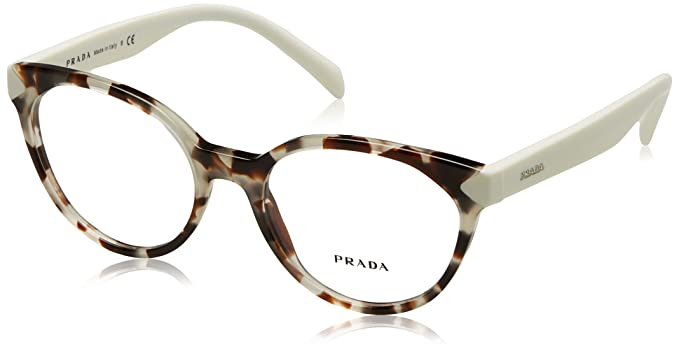 1d7c50ac8f5 Image Unavailable. Image not available for. Color  Prada PR01TV Eyeglass  Frames UAO1O1-53 - Spotted Opal Brown ...