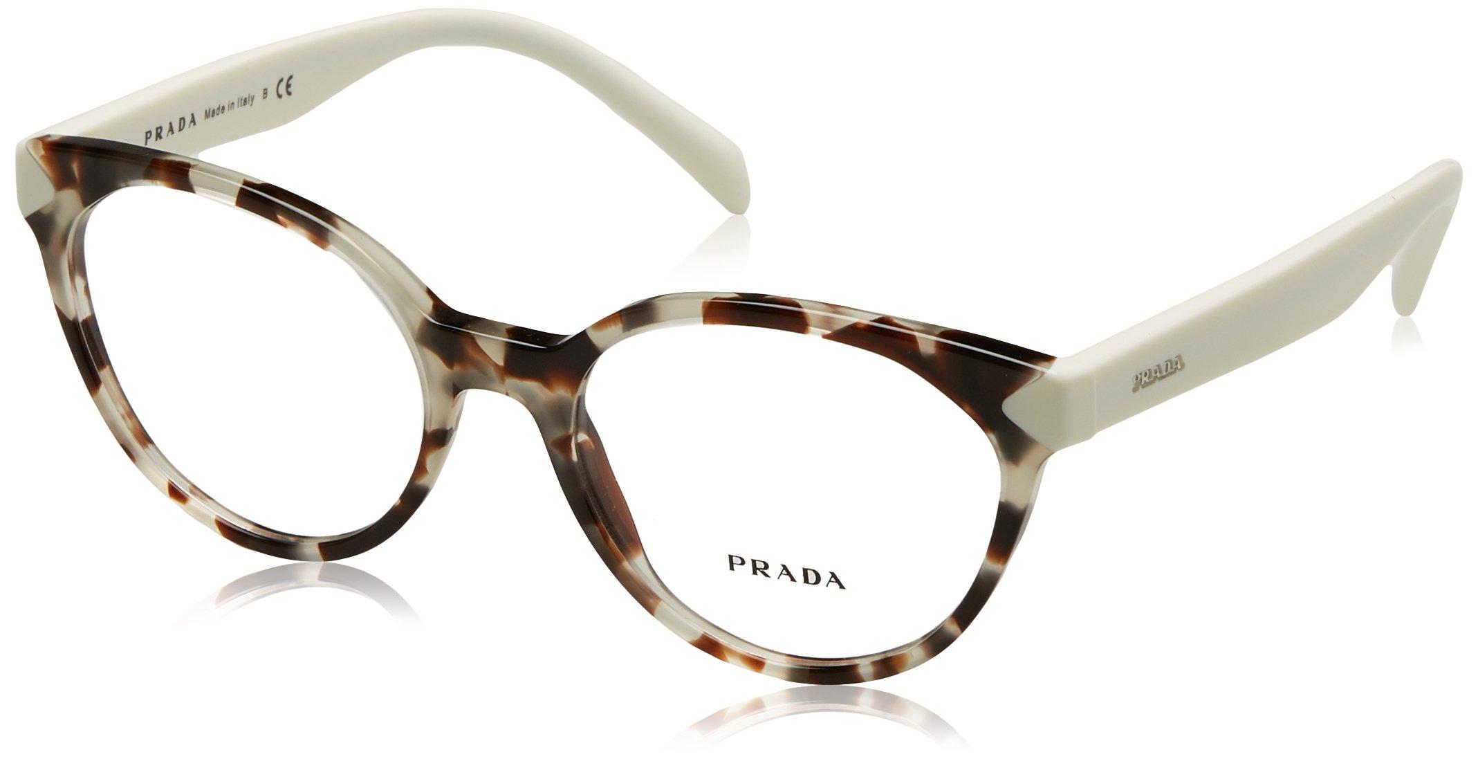 Prada PR01TV Eyeglass Frames UAO1O1-53 - Spotted Opal Brown PR01TV-UAO1O1-53