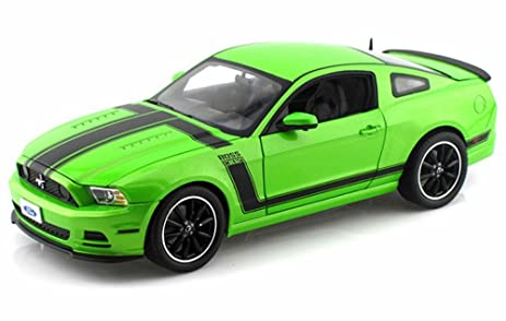 Amazon 2013 Ford Mustang Boss 302 Green W Black Stripes