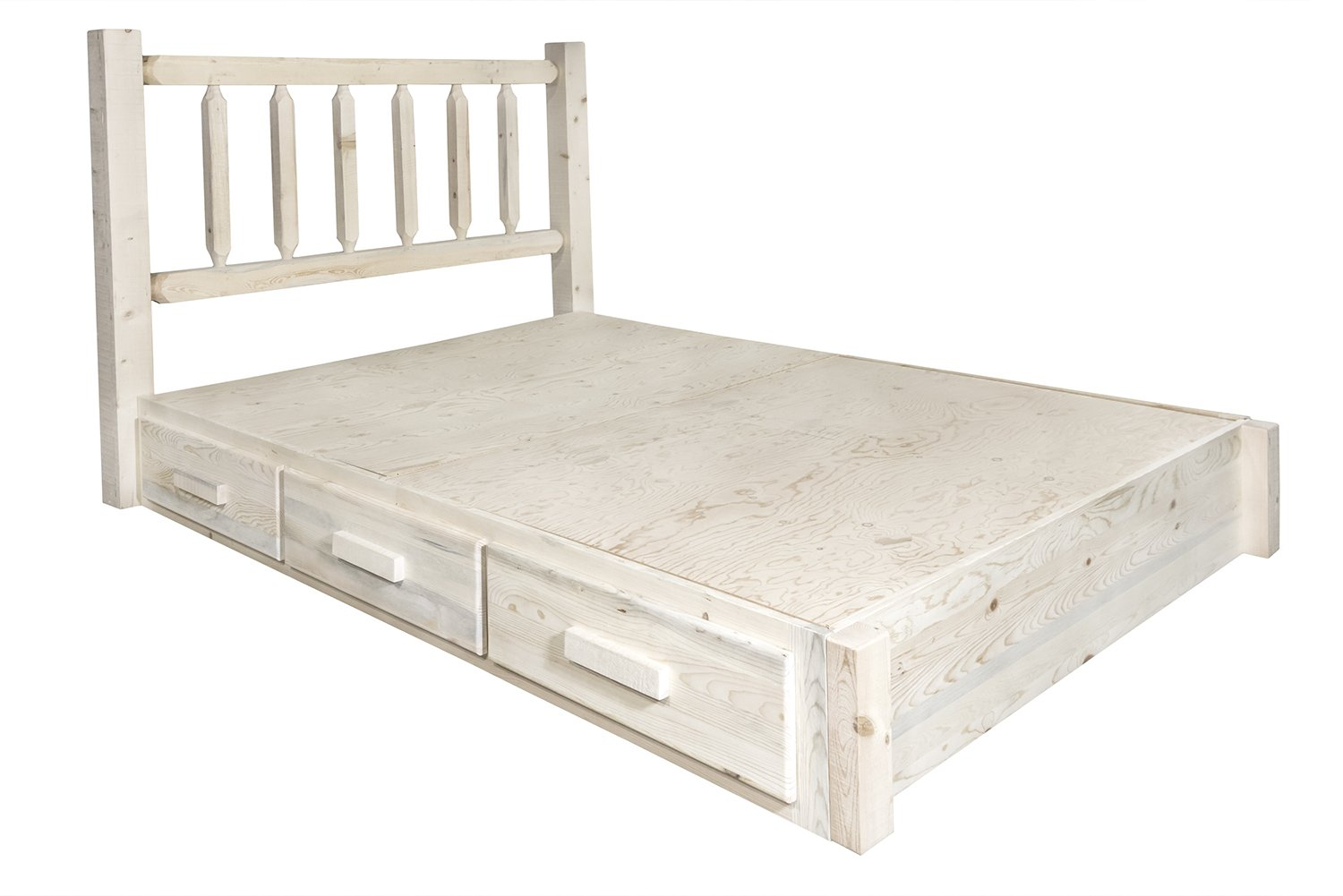 Amazon.com: Montana Woodworks MWHCSBPK Homestead Collection King Platform Bed with Storage, Ready to Finish: Kitchen & Dining