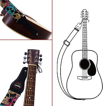Verstellbarer Gitarrengurt Gitarren-Bass-Schultergurt aus Baumwolle