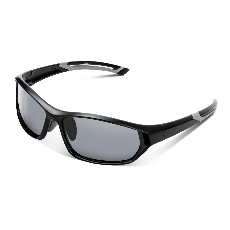 15aadc4aea Amazon.com  Polarized Sunglasses for Men Women Youth Sports Fishing Cycling  Baseball Running Motorcycles Golf Tac lens(Black)  Shoes