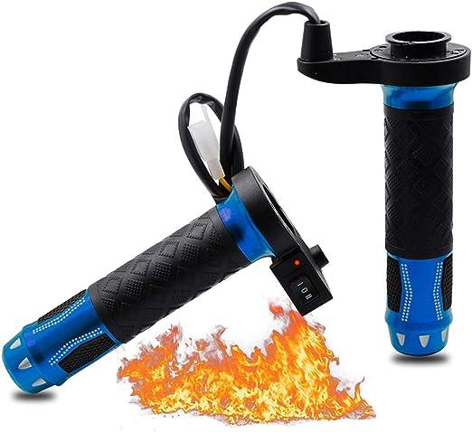 poign/ées chauffantes /électriques pour poign/ées chauffantes pour guidon avec couvercles et manchons 1 paire de poign/ées de guidon de moto 7//8 po