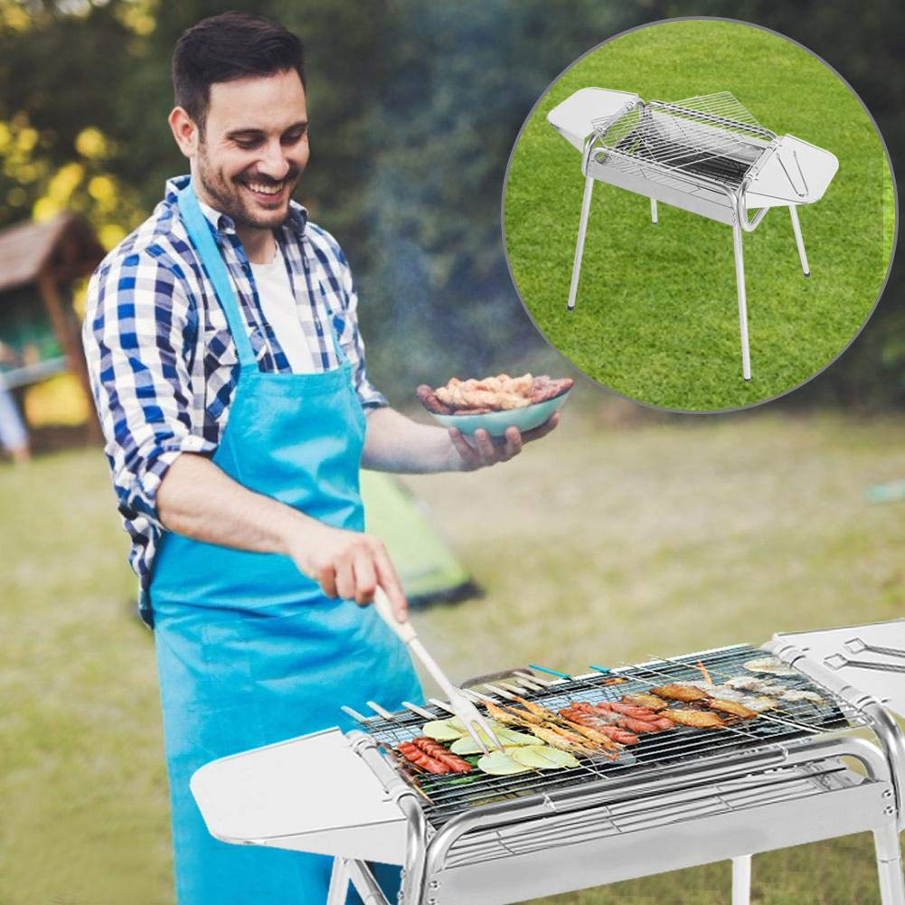 TOPINCN 1PC Stove Barbecue Oven Outdoor Camping Household Charcoal BBQ Grill Carbon Oven BBQ Grill Set by TOPINCN (Image #4)
