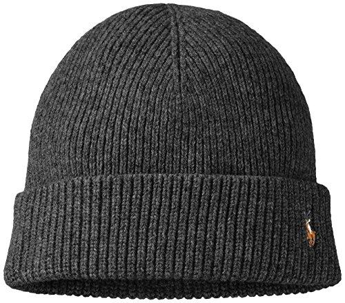 473abb3f1d6 Polo Ralph Lauren Men s Signature Cuffed Merino Hat (One size ...