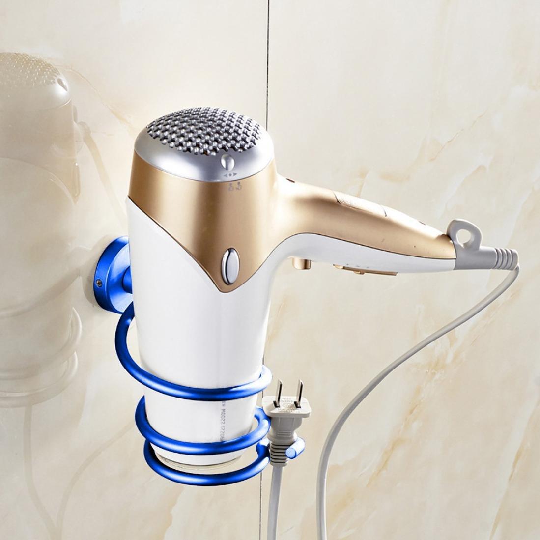 【数量は多】 Lipingバスルーム棚ヘアドライヤー実用的アルミタイプnon-traceスティック壁浴室アクセサリー用デコレーション B07D6QL75X ダークブルー B07D6QL75X, zakka OLIVE:72399f8e --- mvd.ee