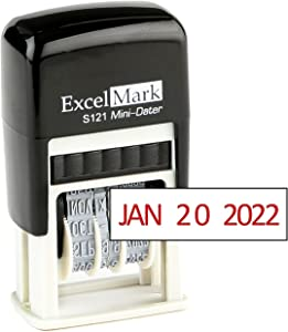ExcelMark Self-Inking Date Stamp – S121 (Red Ink)