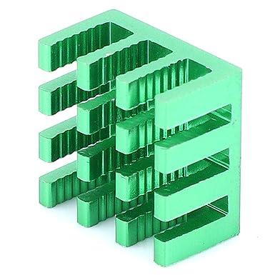 Green 20Pcs Heat Sink Aluminum PCB Aluminum Electrical Cooler for LED Printed Circuit Board 14x14x8mm
