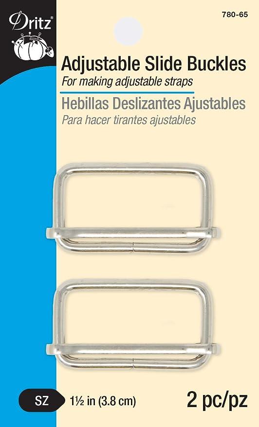 Amazon.com: Dritz 780-65 Adjustabl Slide Buckles for 1-1/2-Inch Straps, Silver, 2 Count
