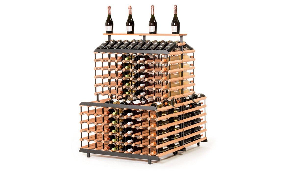 RAXI Show Getränkeregal/ Weinregal 360 Flaschen aus massiv Buchenholz für Vinotheken - Weingeschäfte - Getränkeshops