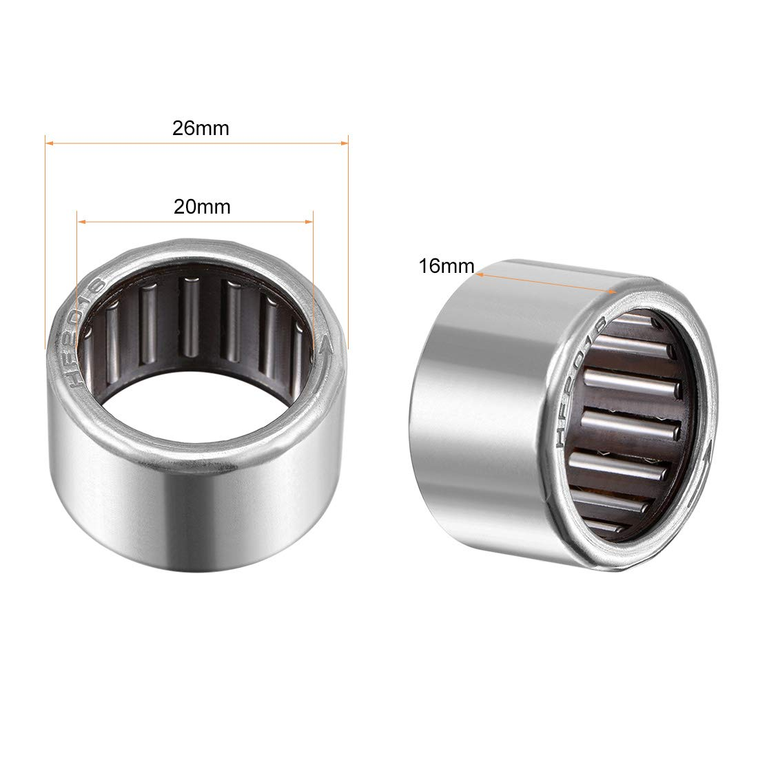 12mm Calibre 18mm OD 16mm Large sourcing map HF1216 Roulement Aiguille 1 Voie Roulement