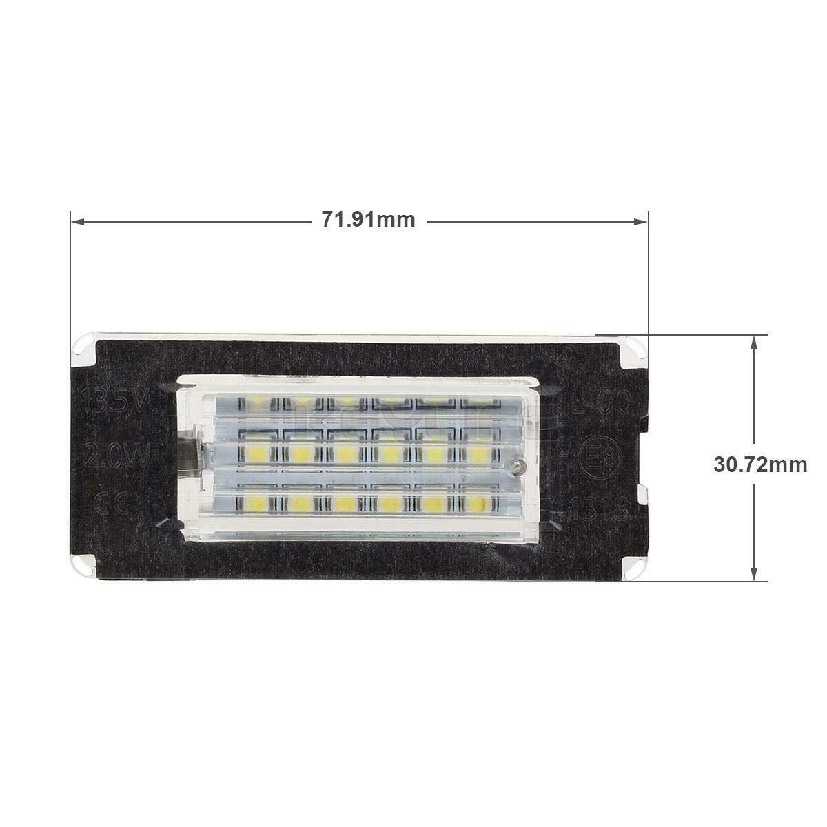 GZLMMY 2Pcs No Error LED License Plate Light Number Lamp for Mini Cooper R56 R57 R58 R59 White