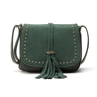 f024e3d3a REPRCLA Tassel Shoulder Bag PU Leather Women Crossbody Bags Handbags:  Handbags: Amazon.com