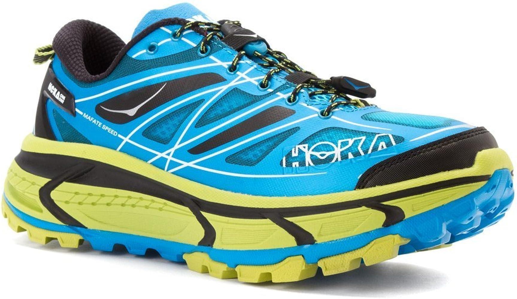 Hoka - HOKA - Chaussure Trail - MAFATE SPEED Bleu/Jaune - tailles: 43 1/3: Amazon.es: Deportes y aire libre