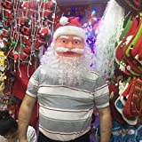 ArMordy(TM) Santa Father Christmas Mask Carnival Christmas Santa Claus Mask For Christmas Party Decoration Photo Props