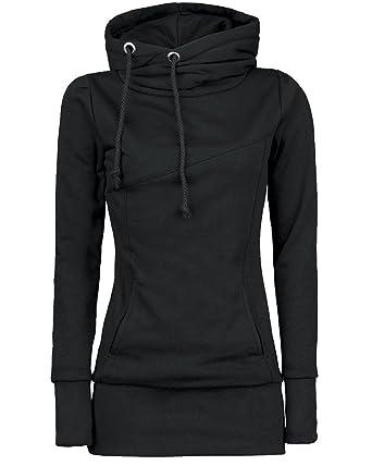 Long Hoodies Womens Long Sleeve Sweatshirt Hooded Pullover Tops Black S 6baf148d4