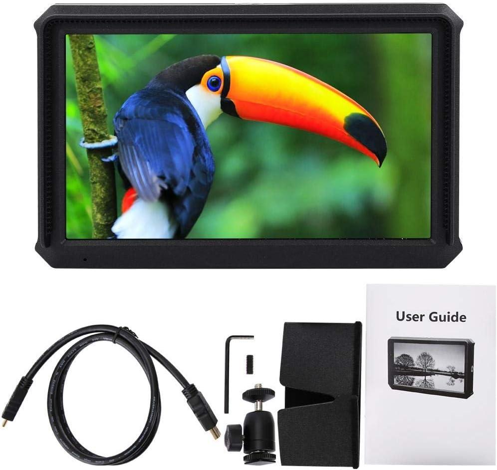 Mugast A5 4K HDMI Camera Monitor,Professional 5Inch 19201080 Full HD IPS Screen Monitor with Ball Head and Sunshade for DSLR Camera