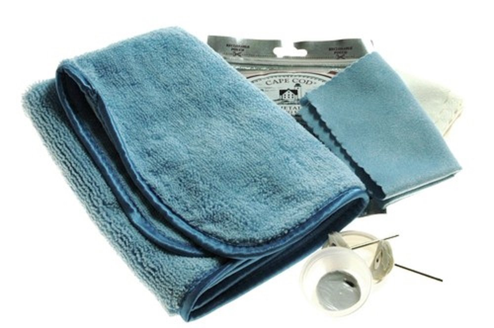 Deep Scratch Removal Kit for High Polish Finish Watches with White Rouge, Muslin Buffs and Cape Cod Cloths