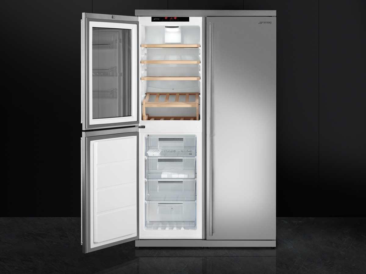 Side By Side Kühlschrank Weinkühler : Smeg side by side wein kühl gefrier kombination edelstahl