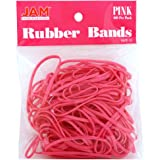 JAM Paper Rubber Bands - #33 Size - Pink Rubberbands - 100/pack