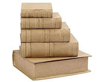 5 cajas de papel maché lakeballs - Libro para decorar 8,5 A 18,