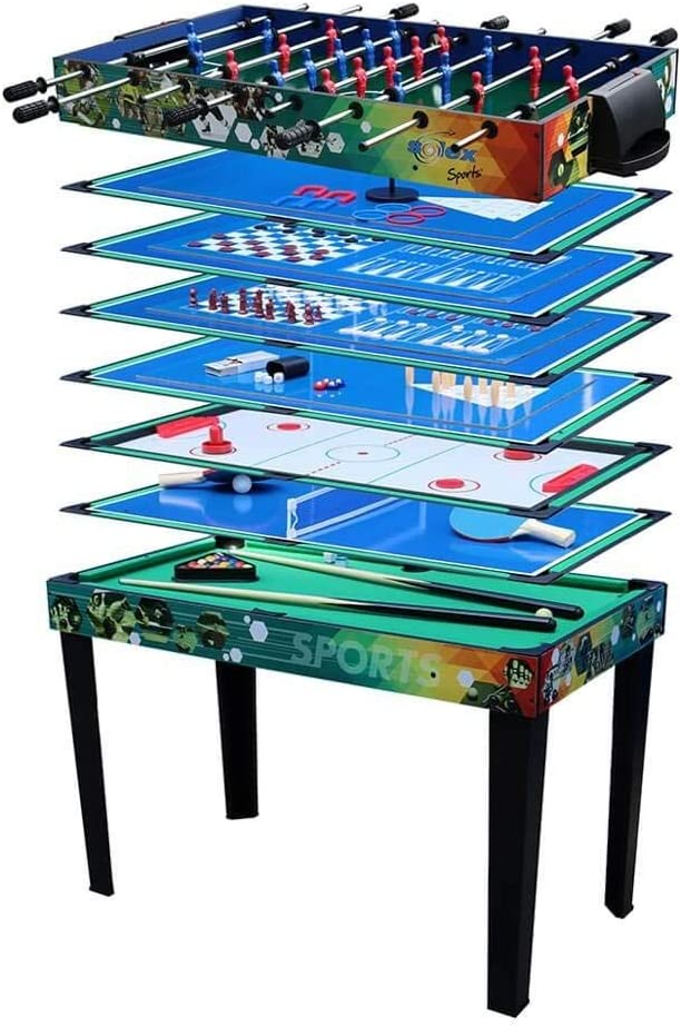 Solex - Mesa de Juegos (12 en 1, Madera, 113 x 62 x 81,3 cm), Multicolor: Amazon.es: Deportes y aire libre