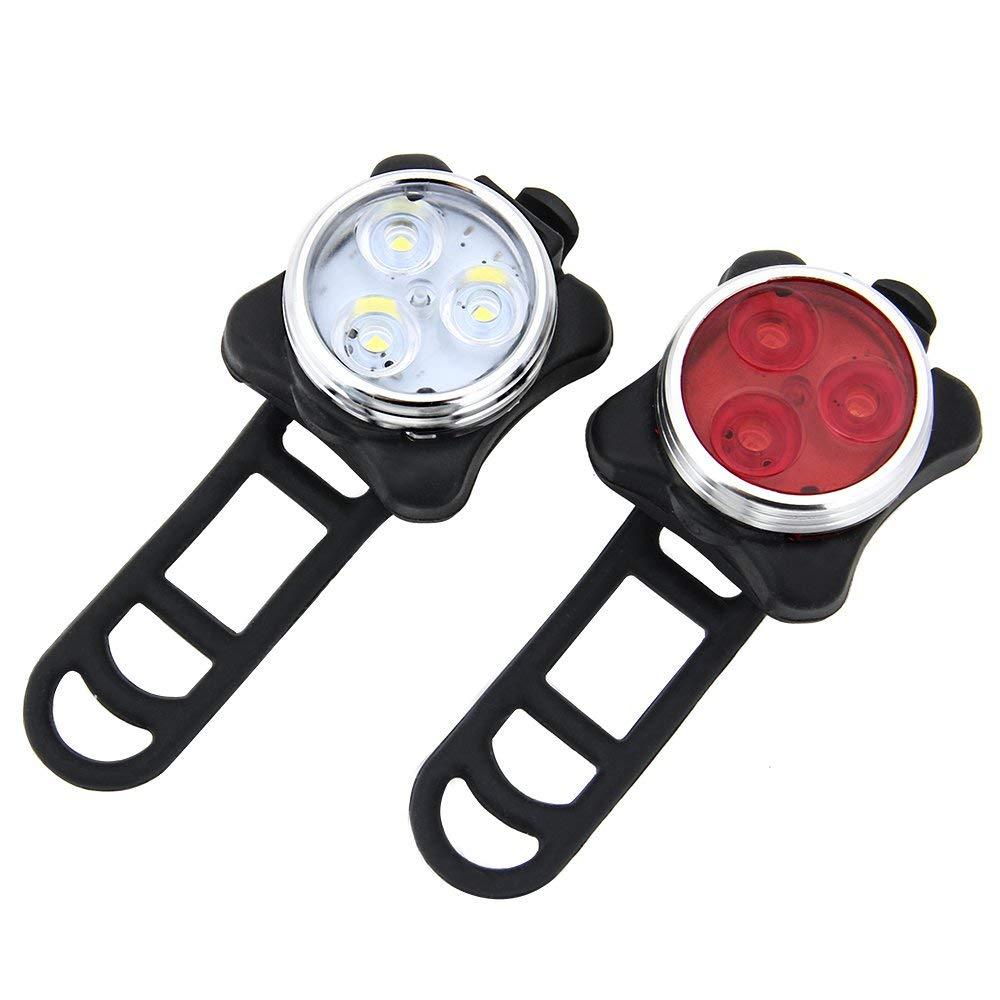 Lampe V/élo LED /Éclairage USB Antichoc Impermeable pour VTT VTC Cyclisme Eclairage V/élo 4 Modes de Luminosit/é MEHOUSE /éclairages V/élo /à LED Lumi/ère V/élo Avant et Arri/ère