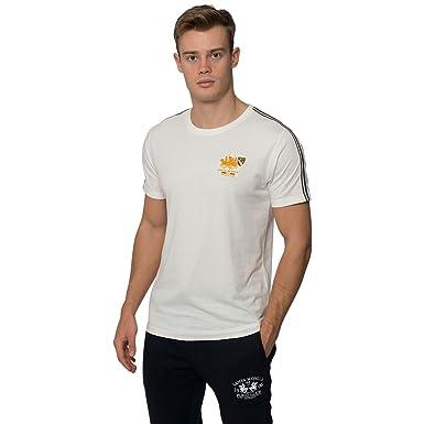 Santa Monica Polo Club Camiseta Hombre Manga Corta Camiseta ...