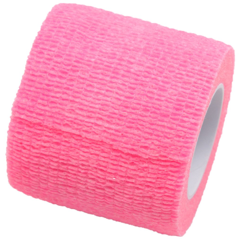 Pet Bandaging Tape Fabric Adhesive, Dog Cat Bandages (Pink)