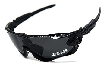 Playbook carretera montaña ciclismo gafas gafas gafas polarizadas ciclismo bicicleta gafas de sol Oculos Gafas Ciclismo 3 lentes (negro/negro): Amazon.es: ...