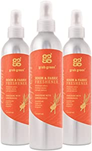 Grab Green NaturalRoom & Fabric Freshener, Phthalate-Free, Tangerine with Lemongrass, 7 Ounce Bottle (3-Pack)