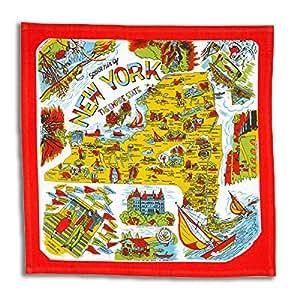 New York State 50s Style Cotton Flour Sack Souvenir Towel 22 x 22