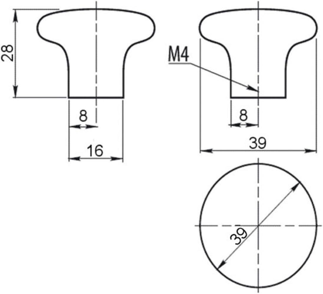 SO-TECH/® Porzellanknopf Kim Cremewei/ß krakeliert /Ø 39 mm Porzellangriff
