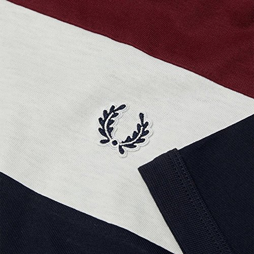 Fred Perry T Shirt Color Block Navy, T-shirt