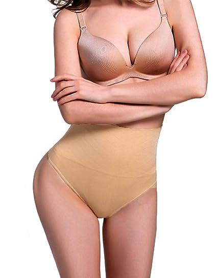 084705770971 FUT Women Waist Cincher Girdle Tummy Slimmer Sexy Thong Panty Shapewear  Postpartum Underwear Beige