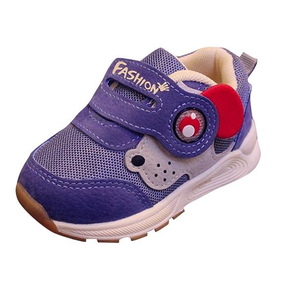 YanHoo Zapatos para niños Calzado Deportivo de Malla Infantil para niños Niños pequeños Deportes para niños