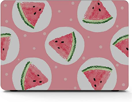 MacBook Pro Protector Summer Fashion Cute Fruit Watermelon Plastic Hard Shell Compatible Mac Air 11 Pro 13 15 MacBook Pro Cover Protection for MacBook 2016-2019 Version
