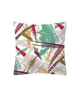 Qinlee Drucken Kissenbezüge Bunt Muster Sofa Kissenhülle Einfach Kissenbezug Zierkissenbezüge für Haus Auto Büro 45x45 cm