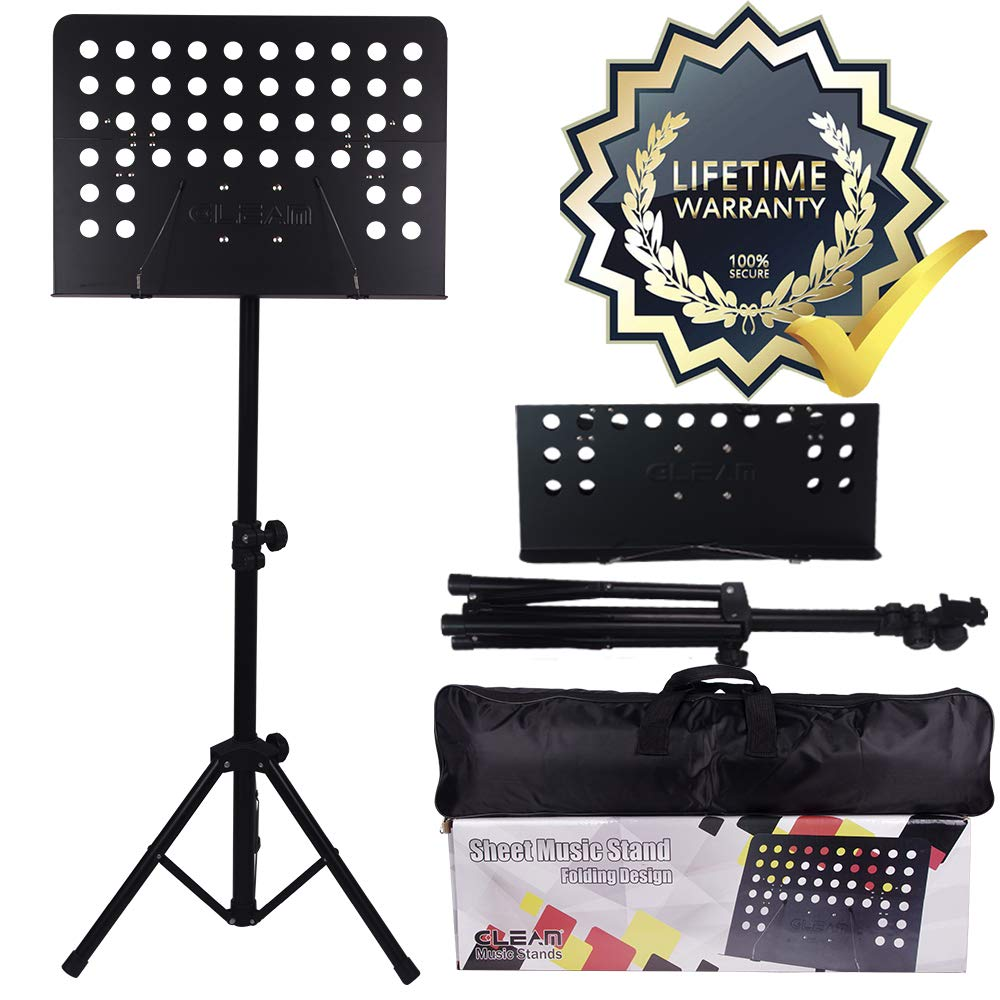 GLEAM Conductor Sheet Folding Music Stand With 5mm Padding Carrying Bag