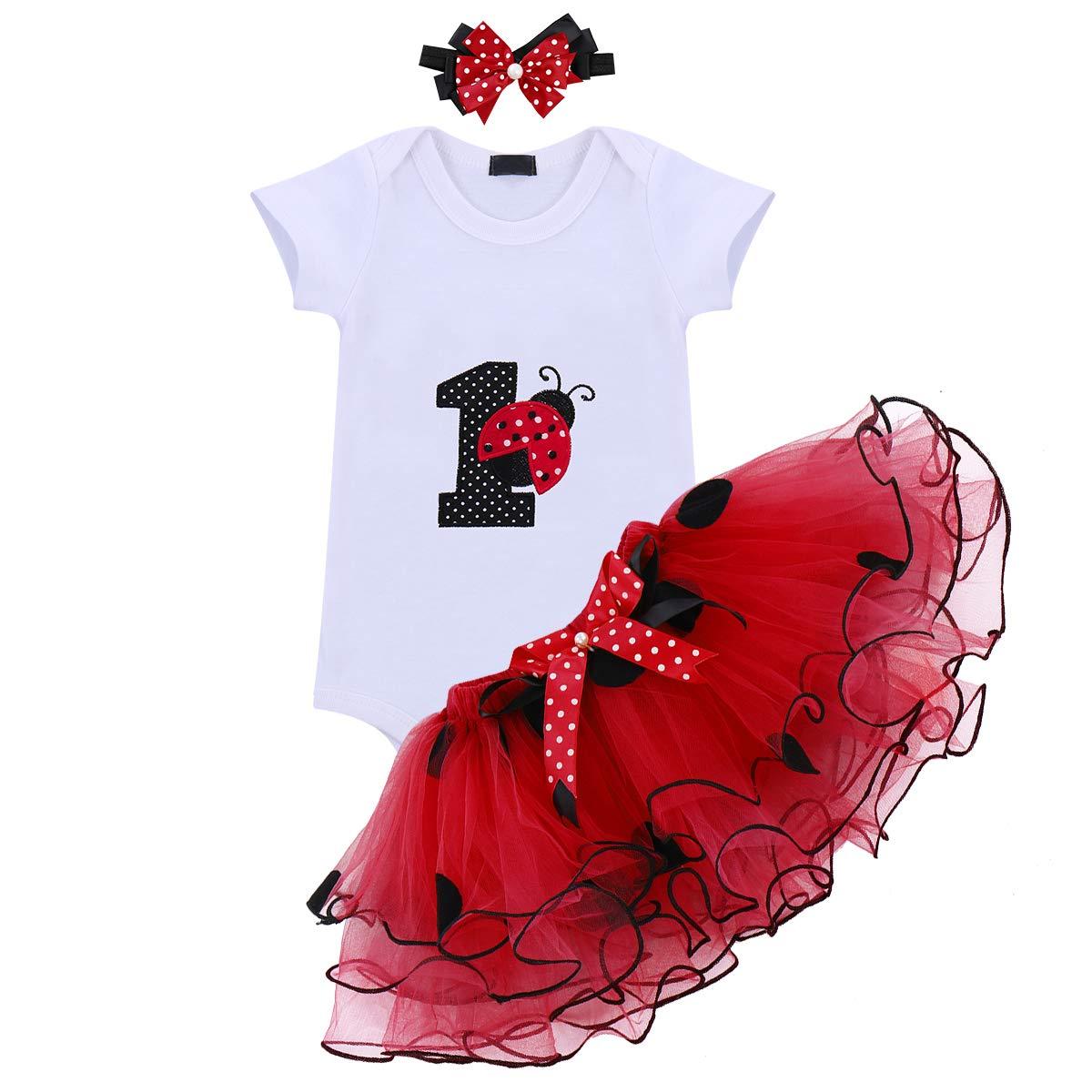 00bfe07467d51 OwlFay Wild/Unicorn/Ladybug One Year Baby Girls 1st Birthday Dress Tutu  Outfits Cotton One Piece Tutu Romper Skirt Princess Party Dress Cake Smash  Outfit ...
