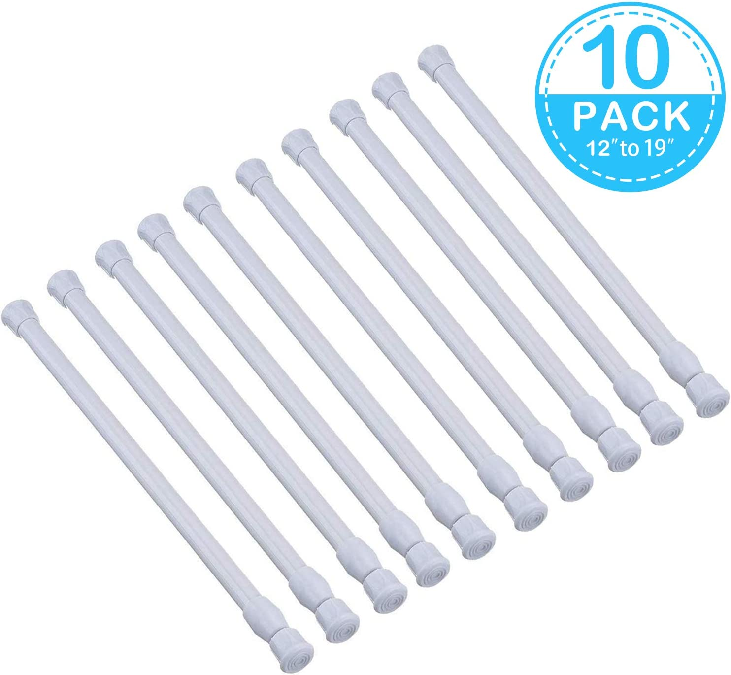 GOODUSCN 6 Pack Tension Rods Extendable Width 28 to 48 Adjustable ...