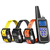 Cambond Dog Training Collar for 3 Dogs, 3 Dog Shock Collar with Remote 2600ft Range Waterproof Electronic Dog Collar for Medium and Large Dogs with 4 Training Modes Light Shock Vibration Beep
