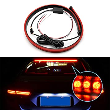 Kanuoc Led Brake Light Strip Centre High Mount Stop Lamp 144 Red Led Safety Waterproof Ip67 Led Turn Signals Brake Running Double Flash For Vehicle