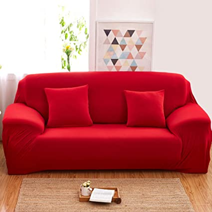 Amazon.com: HMWPB Stretch Sofa Cover,Elastic Polyester ...