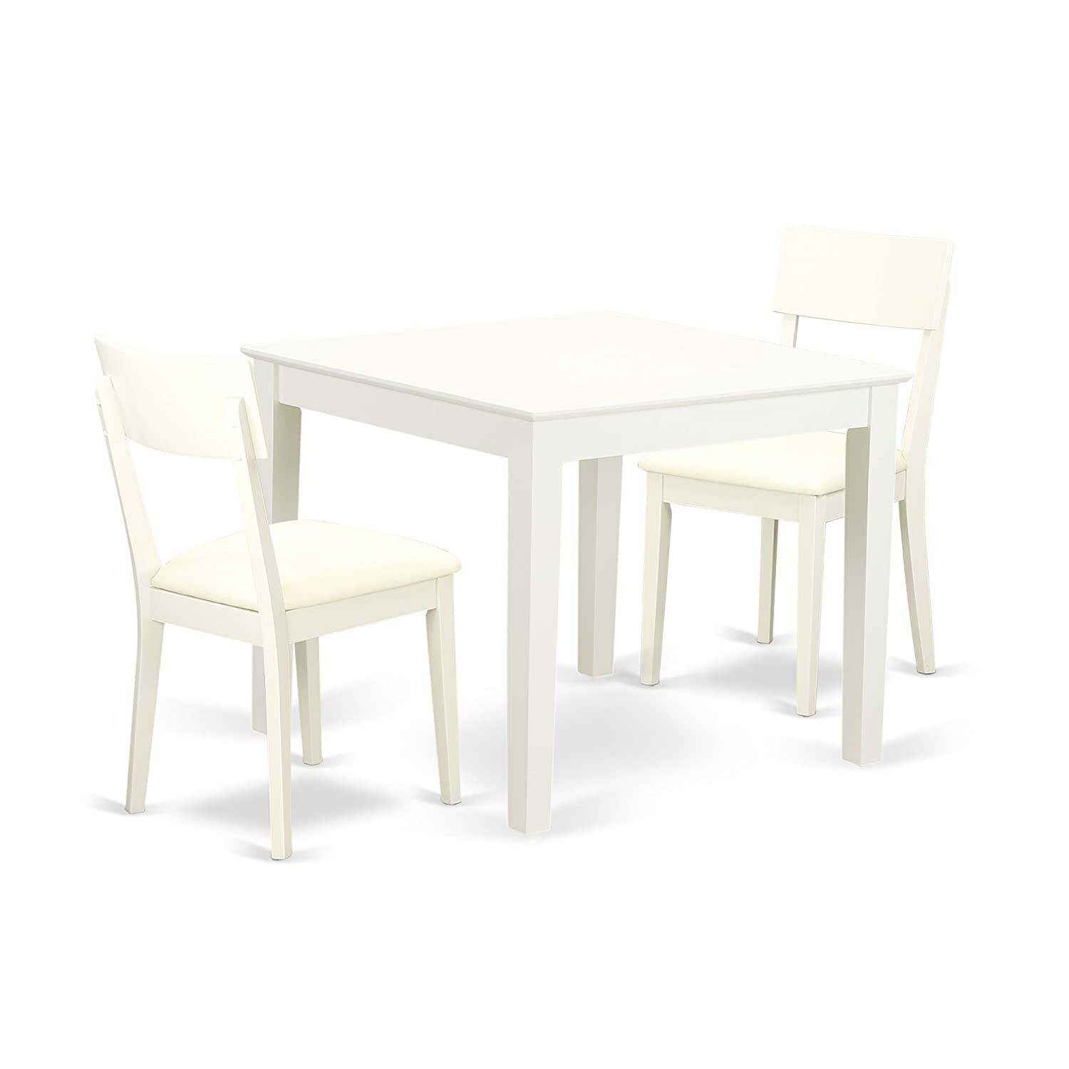 East West Furniture OXAD3-LWH-LC Kitchen Set 3 Pieces Linen White