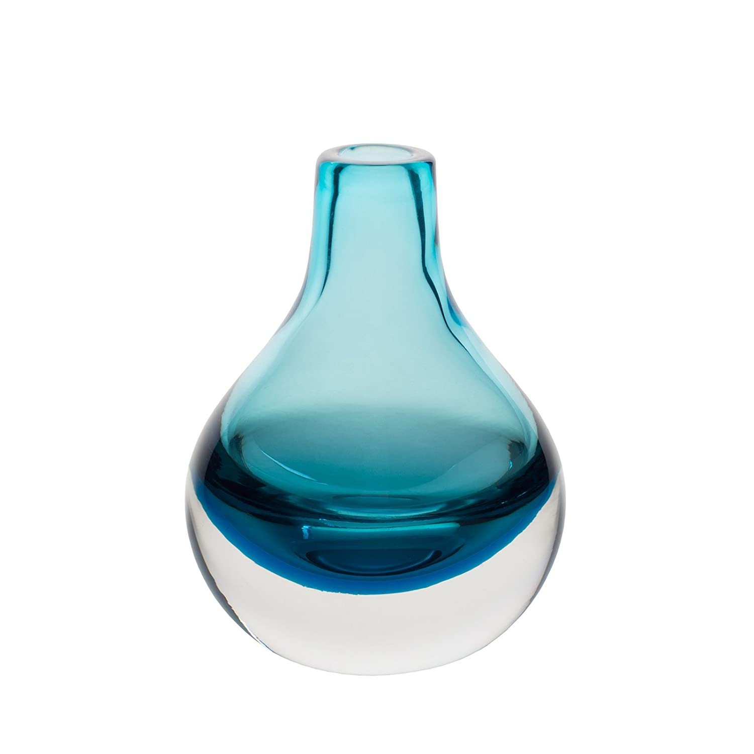 Vases amazon home decor casamotion home decor accent vase hand blown art solid color glass bud vase blue reviewsmspy