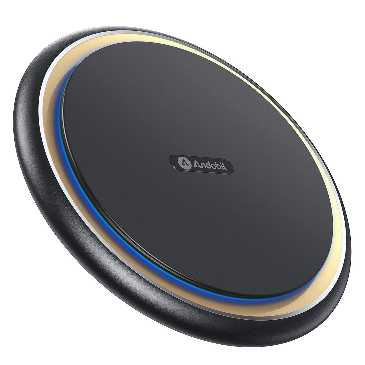 Andobil Boost 15W Fast Wireless Charger, USB-C Qi Certified Alloy Cooling Charging Pad Station 10W 7.5W Compatible iPhone X/Xs Max/Xs/Xr/8/8+, Samsung Galaxy S10/S10+/S10e/S9/S9+/S8/S7, LG V30/V40/G7