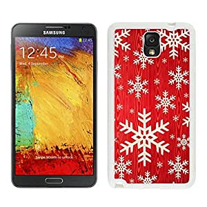 Personalized Hard Shell Red Background With Snowflakes White Samsung Galaxy Note 3 Case 1