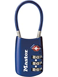 cbd7ceea34 Master Lock 4688D Set Your Own Combination TSA Accepted Luggage Lock 1 Pack  Blue